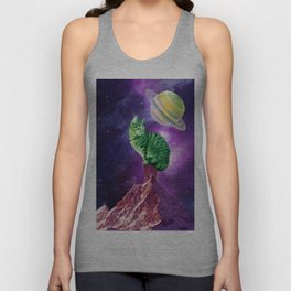 Saturn cat Unisex Tank Top
