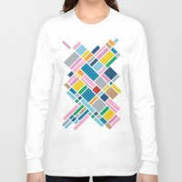 karu kara Long Sleeve T-shirts featuring Map Outline 45  by Project M