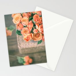 Rosas naranjas Stationery Cards