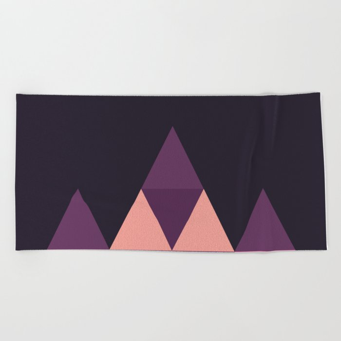 Geometric Pyramid Beach Towel
