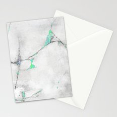Green Cracked Design Stationery Cards