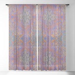 Mehndi Ethnic Style G350 Sheer Curtain