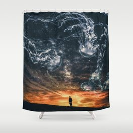 Milkyway Jellyfish by GEN Z Shower Curtain