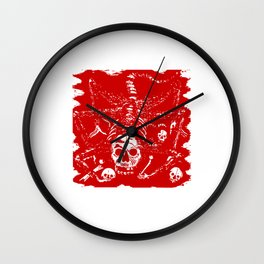 Creature With Skull Face Wall Clock