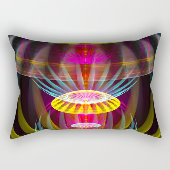 Alien sphere fractal fantasy Rectangular Pillow