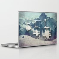 snowboarding Laptop & iPad Skins featuring Lift Me Up by Amanda Royale