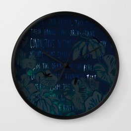 """""""Conquest of the Useless"""" by Werner Herzog Print (v. 5) Wall Clock"""