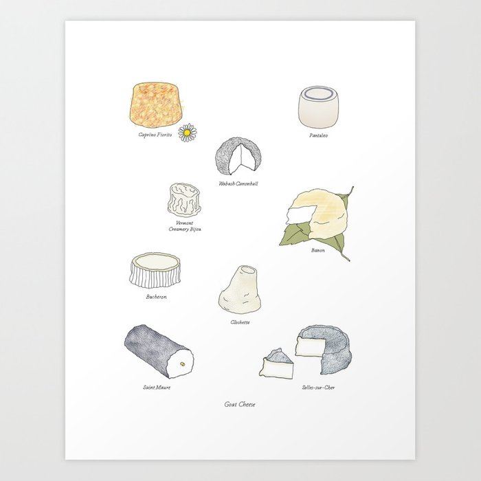 Goat Cheese Art Print
