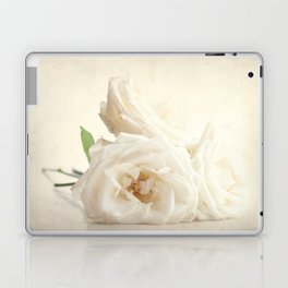 Three white roses Laptop & iPad Skin