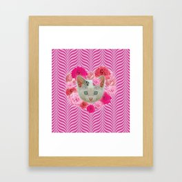 Krazy Kitty Waves Framed Art Print
