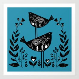 Danish Birds Bring Good Luck And A Good Life Art Print