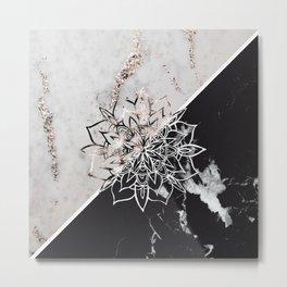 Yin Yang Mandala on Marble #1 #decor #art #society6 Metal Print