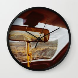 Driving in Rural Scandinavia - Closeup of Wild Landscape in Car Wall Clock