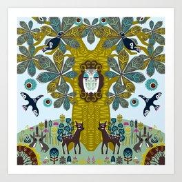 The Horse Chestnut {Day} Art Print