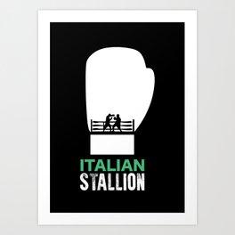Italian Stallion Balboa Ring Art Print