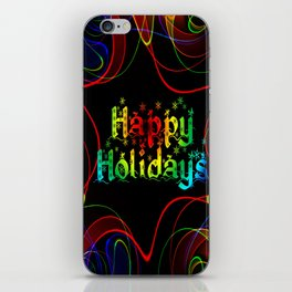 Happy Holidays Christmas greeting desire iPhone Skin
