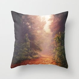 Back into the Fall Throw Pillow