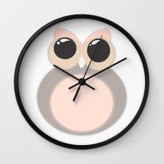 Pastel OWL Wall Clock