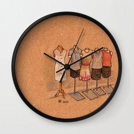 Pretty Maids All In a Row Wall Clock