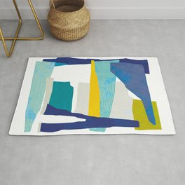 Collect Moments - Blue Collage Rug