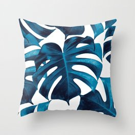 Tropical Monstera Leaves Dream #8 #tropical #decor #art #society6 Throw Pillow