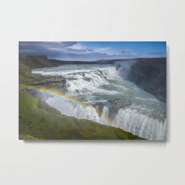 Rainbow at Gulfoss - Iceland Metal Print