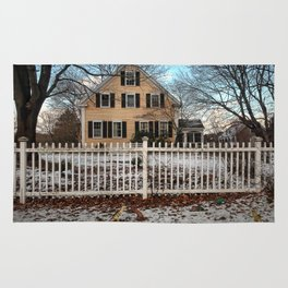 Rhode Island House and Fence and Dinosaurs Rug