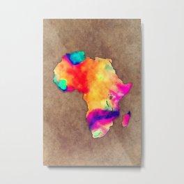 Africa map color brown Metal Print
