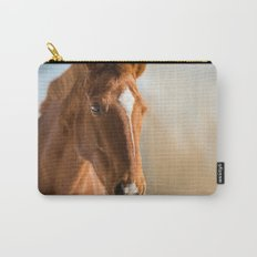 Brown Horse Winter Sky Carry-All Pouch