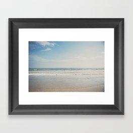 the shoreline ... Framed Art Print