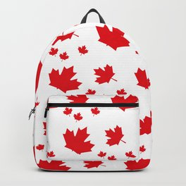 Canada Maple Leaf-Large-White Backpack