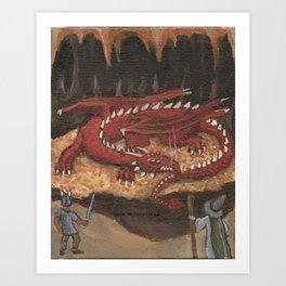Sleeping Dragon Art Print