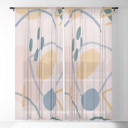 Abstract Shapes Sheer Curtain