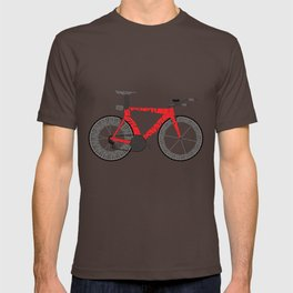 Typographical Anatomy of a Time Trial Bike T-shirt
