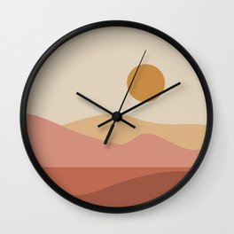 Geometric Landscape 23A Wall Clock