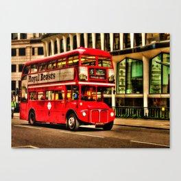 Trafalgar Square London Double Decker Bus Canvas Print