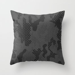 Digital Pattern Camouflage Throw Pillow