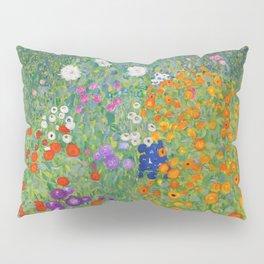 Gustav Klimt Flower Garden Floral Art Nouveau Pillow Sham