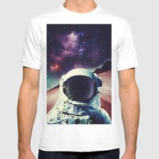 Lonely Spaceman White MEDIUM Mens Fitted Tee