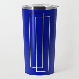 Blue Door Abstract Travel Mug