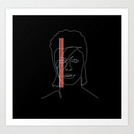 Lines of Stardust Art Print