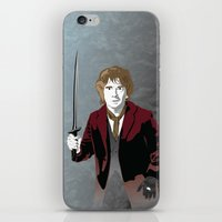 the hobbit iPhone & iPod Skins featuring Hobbit by Digital Sketch