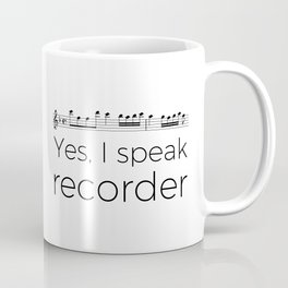 I speak recorder Coffee Mug