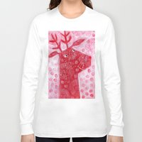 reindeer Long Sleeve T-shirts featuring Reindeer by Nic Squirrell