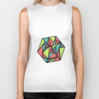 hexagon Biker Tanks featuring Hexagon by chrfahnestock