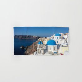 Santorini, Oia Village, Greece Hand & Bath Towel