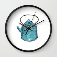 soviet Wall Clocks featuring soviet tea kettle pattern by lambaliha