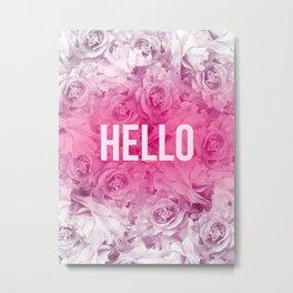 flower neon Metal Print