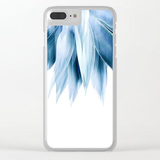 Agave geo fringe - blue Clear iPhone Case