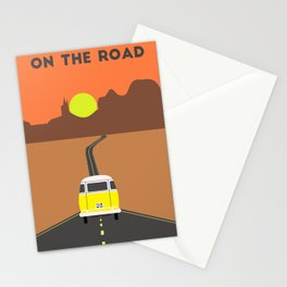 On the road (Yellow van) Stationery Cards
